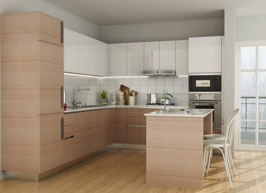 Acrylic and Laminate Mix Kitchen Design