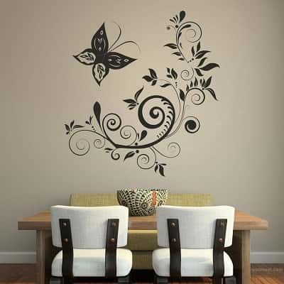 floral design dining room
