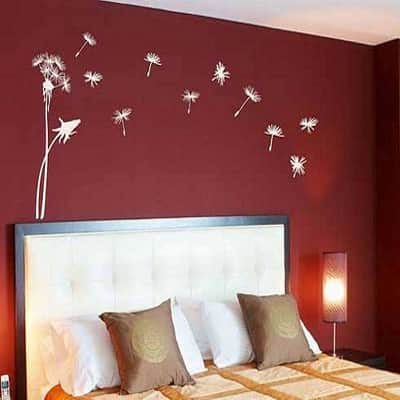 floral wall painting design